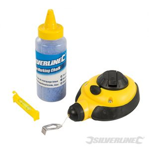 250571, Fast Rewind Chalk Line Set 3pce Silverline, Building, Li