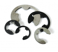 E-Clips (E Type Circlips) - Metric & Imperial - Carbon & Stainless Steel
